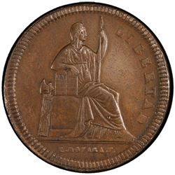 MEXICO: Republic, AE 1/8 real, 1850-Mo