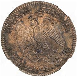 MEXICO: Maximilian, 1864-1867, AE centavo, 1864-M