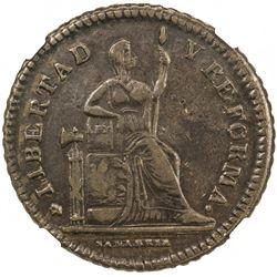 MEXICO: Republic, AE centavo, 1863-SLP