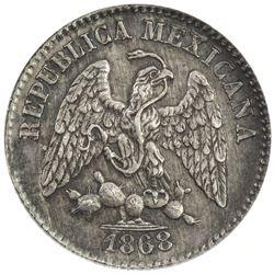 MEXICO: Republic, AR 5 centavos, 1868-Mo
