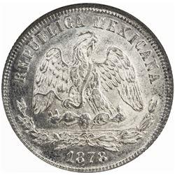MEXICO: Republic, AR 50 centavos, 1878-Zs