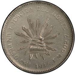 MEXICO: Revolutionary Issue, AR peso, Chihuahua, 1915-CHa. PCGS MS62
