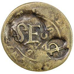 ST. EUSTATIUS: Dutch Colony, BI stuiver (1.55g), ND (1809). VF