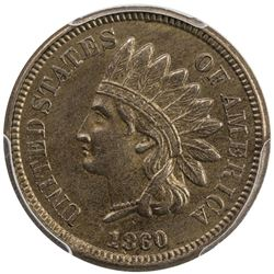 UNITED STATES: 1860 Indian Head 1C, PCGS graded AU58
