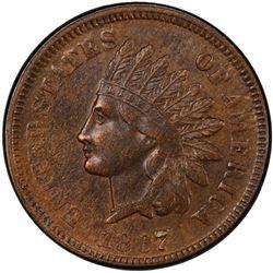 UNITED STATES: 1867 Indian Head 1C