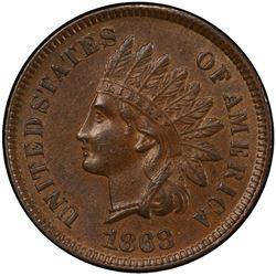 UNITED STATES: 1868 Indian Head 1C PCGS AU55