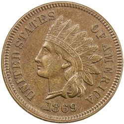 UNITED STATES: 1 cent, 1869, ex Jim Farr Collection.