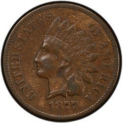 UNITED STATES: 1877 Indian Head 1C PCGS AU58