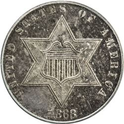 UNITED STATES: 1868 Silver 3C