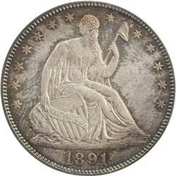 UNITED STATES: 1891 Liberty Seated 50C