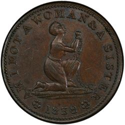 UNITED STATES: AE token, 1838. PCGS AU58