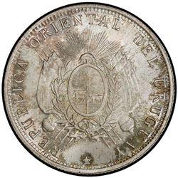 URUGUAY: Republic, AR 50 centesimos, 1894. PCGS MS67