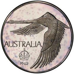 AUSTRALIA: AR pattern dollar, 1967. PCGS PF65