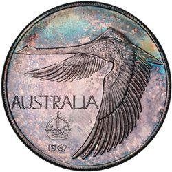 AUSTRALIA: AR pattern dollar, 1967. PCGS MS68