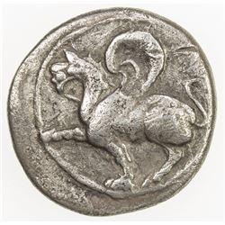 ABDERA: ca. 395-360 BC, AR tetrobol (2.62g). VF