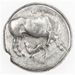ILLYRIAN CITIES: AR stater (10.61g), Dyrrhachion, ca. 340-280 BC. VF