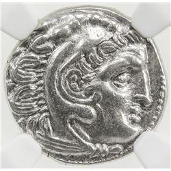 MACEDONIAN KINGDOM: Alexander III, the Great, 336-323, AR drachm. NGC AU