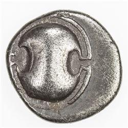 THEBES: AR hemidrachm (2.59g), ca. 425-375 BC. VF