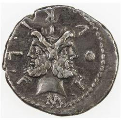 ROMAN REPUBLIC: M. Furius L.f. Philus, 119 BC, AR denarius (3.88g), Rome. VF