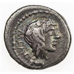 ROMAN REPUBLIC: M. Porcius Cato, 47-46 BC, AR quinarius (2.08g), Rome. VF