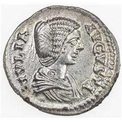 ROMAN EMPIRE: Julia Domna, wife of Septimius Severus, 193-211, AR denarius (2.69g), Laodikeia. EF-AU