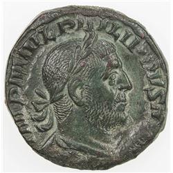 ROMAN EMPIRE: Philip I, 244-249 AD, AE sestertius (14.44g), Rome (248). VF