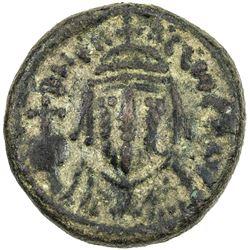 BYZANTINE EMPIRE: Heraclius, 610-641 AD, AE 1/2 follis (5.39g), ND. VF