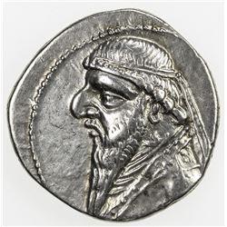 PARTHIAN KINGDOM: Mithradates II, c. 123-88 BC, AR drachm (4.08g). EF