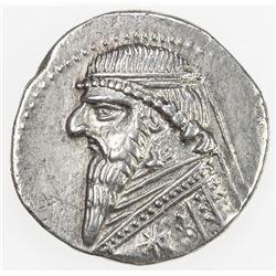 PARTHIAN KINGDOM: Mithradates II, c. 123-88 BC, AR drachm (4.18g). EF