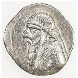 PARTHIAN KINGDOM: Mithradates II, c. 123-88 BC, AR drachm (3.92g). EF