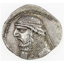 PARTHIAN KINGDOM: Mithradates II, c. 123-88 BC, AR drachm (4.10g). EF