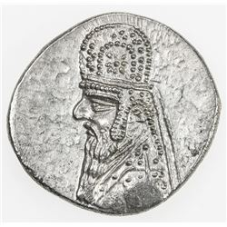 PARTHIAN KINGDOM: Mithradates II, c. 123-88 BC, AR drachm (4.09g). EF