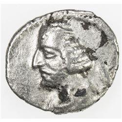 PARTHIAN KINGDOM: Orodes II, c. 57-38 BC, AR obol (0.60g). VF