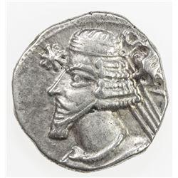 PARTHIAN KINGDOM: Phraates IV, c. 38-2 BC, AR drachm (4.03g), Rhagae. VF