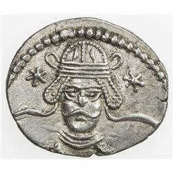 PARTHIAN KINGDOM: Vonones II, AD 51, AR drachm (3.55g), Ekbatana. EF