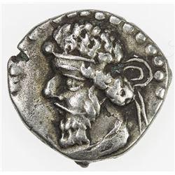 PARTHIAN KINGDOM: Vologases I, AD 51-78, AR diobol (1.17g). VF