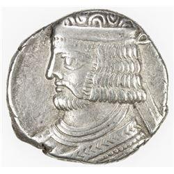 PARTHIAN KINGDOM: Vardanes II, AD 55-58, AR tetradrachm (14.13g), SE368. VF