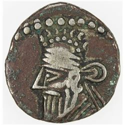 PARTHIAN KINGDOM: Pakoros II, AD 78-105, AR diobol (1.12g). F-VF