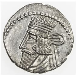 PARTHIAN KINGDOM: Vologases III, AD 105-147, AR drachm (3.54g). EF
