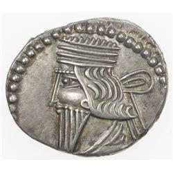PARTHIAN KINGDOM: Vologases III, AD 105-147, AR drachm (3.71g). VF-EF