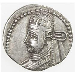 PARTHIAN KINGDOM: Parthamaspates, AD 116, AR drachm (3.63g). VF