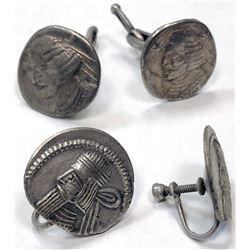 PARTHIAN KINGDOM: LOT of 4 silver drachms, retail value $200