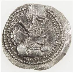 SASANIAN KINGDOM: Shahpur (Sabuhr) I, 241-272, AR obol (0.58g). F-VF