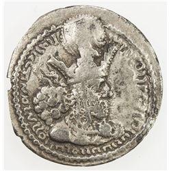 SASANIAN KINGDOM: Shahpur (Sabuhr) I, 241-272, AR obol (0.64g). F-VF