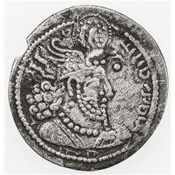 SASANIAN KINGDOM: Hormizd II, 303-309, AR obol (0.61g). F-VF