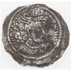 SASANIAN KINGDOM: Hormizd II, 303-309, AR obol (0.33g). F-VF