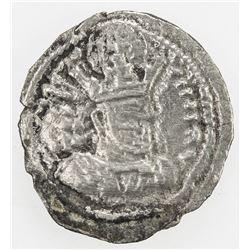 SASANIAN KINGDOM: Shahpur (Sabuhr) II, 309-379, AR obol (0.32g). F-VF