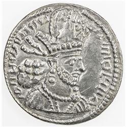 SASANIAN KINGDOM: Shahpur (Sabuhr) II, 309-379, AR drachm (3.58g), NM, ND. VF-EF