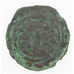 WESTERN TURKS: KHALAJ: ca. early 8th century, AE pashiz (0.92g). F
