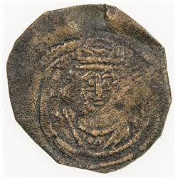 ARAB-SASANIAN: Anonymous, AE pashiz (0.95g), NM, ND. F